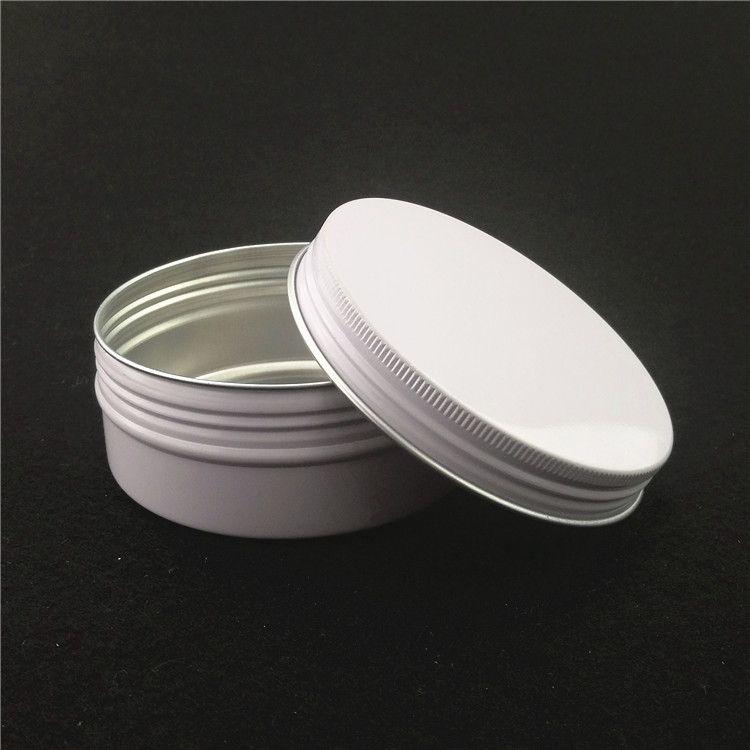 150g tarro de aluminio blanco / estaño / lata con estaño lid.Aromatherapy aluminio, 150 ml tarro cosmético, para la crema / velas / almacenamiento de alimentos