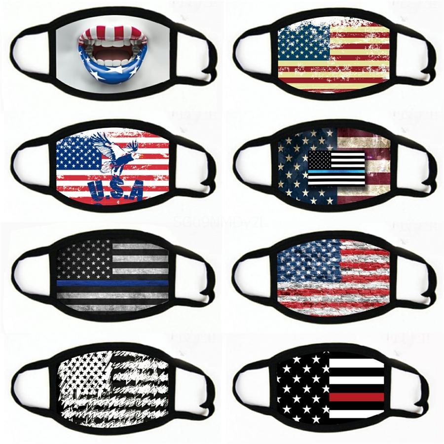 Fashion Face Mask Национальный флаг ВС Доказательство Dust Proof дышащий стереоскопический WashableFace маска # 474