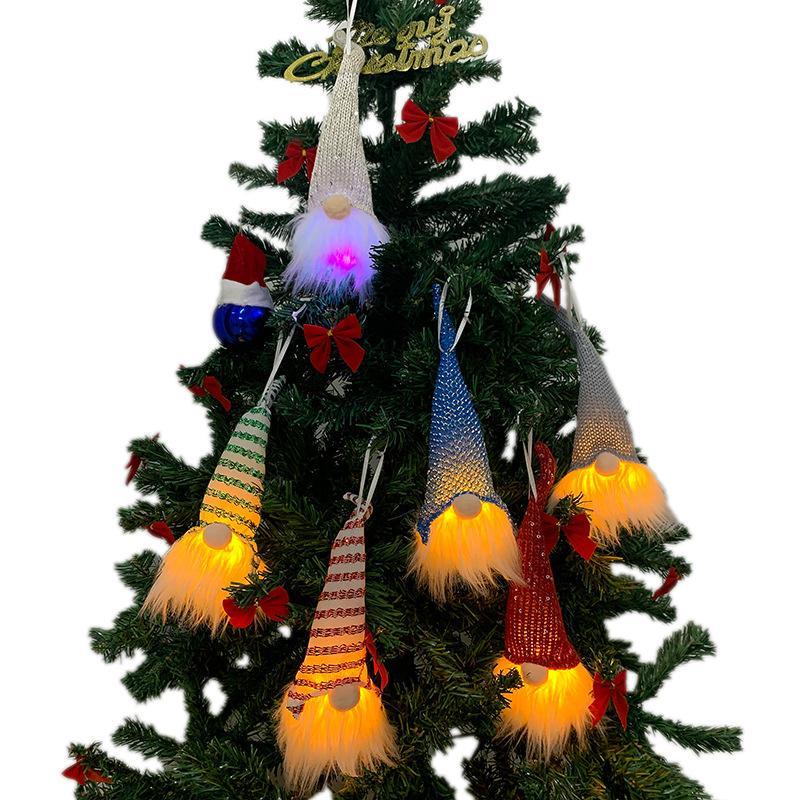 LED ornamento luzes de Natal Decoração de incandescência sem cara de Santa Família Shopping Hotel Cena layout XD23950