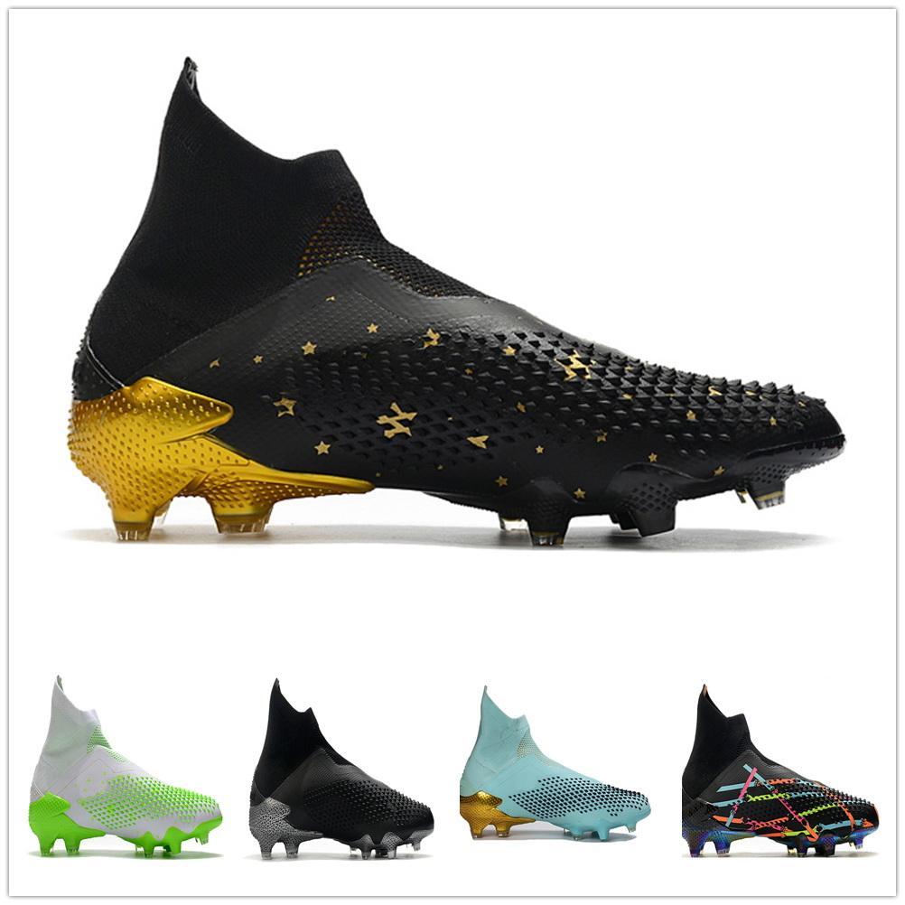 2020 Pedator Mutator Hiçbir Dantel 20 FG Futbol Ayakkabı Yüksek Üst Futbol Cleats Futbol YAKUDA Spor İndirim Eğitim Sneaker Bırakma Kabul Edilir