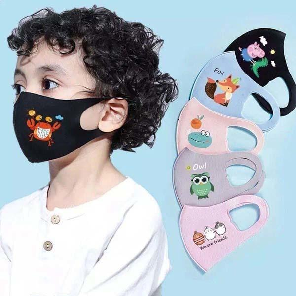 Buque cómoda Cara Moda en 3 capas de algodón de los cabritos Stock Diseñador Fast máscara máscaras a prueba de polvo para adultos Earloop