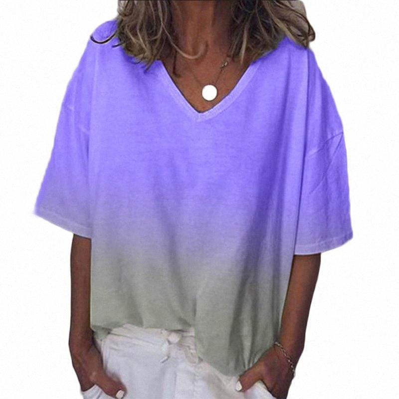 2019 neue Dame-Tops Pullover beiläufige Art und Weise Ferien Strand-Sommer-Frauen-Bluse HQgT #