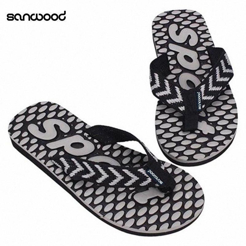 New Trendy Mens Summer Sport Dot Print Indoor Slippers Outdoor Flip Flops Beach Sandals yEdI#