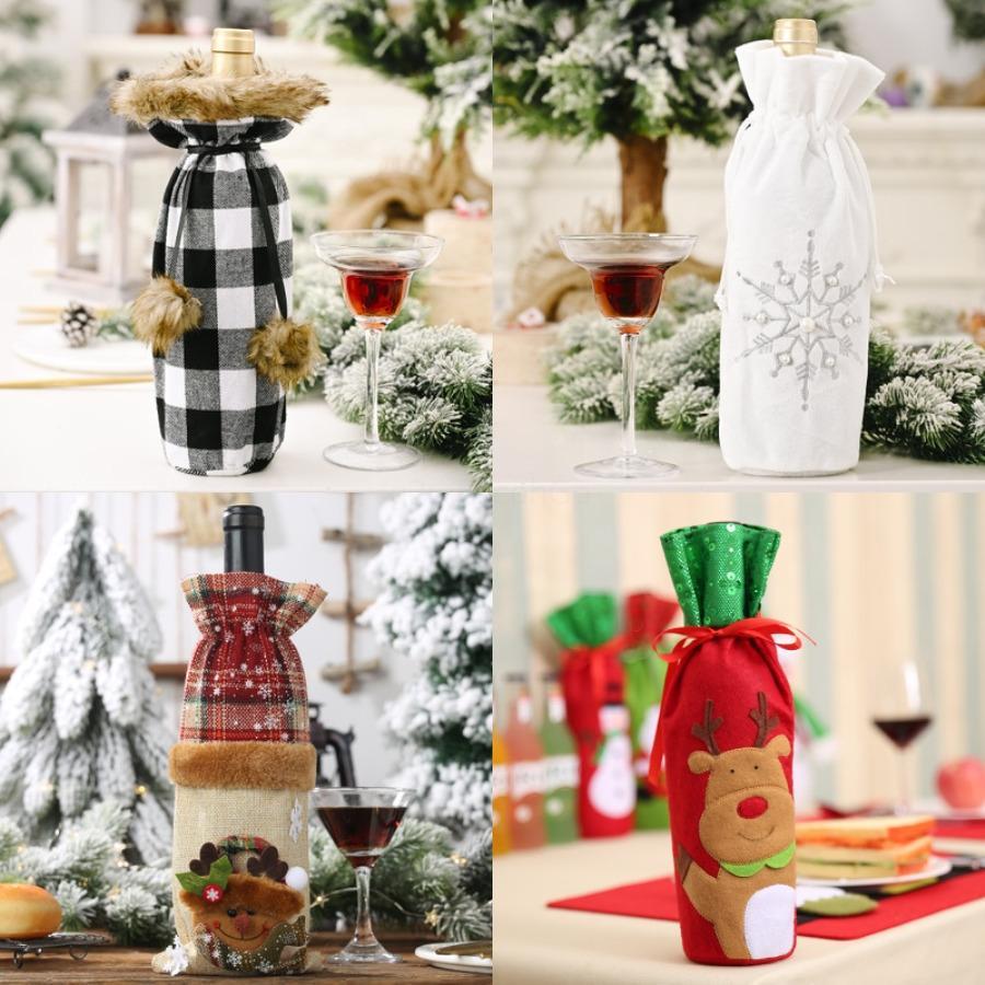 2020 regalo di Natale Borse pesante grande organico borsa di tela di Santa Sack sacchetta con le renne di Babbo Natale Sacca Bags For Kid # 574