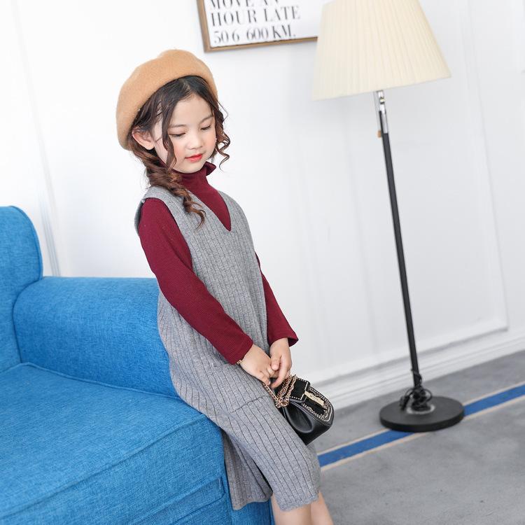 childrenLong de l'automne / hiver V-cou tout-match de style coréen cheongsam vestBONYAFYQ