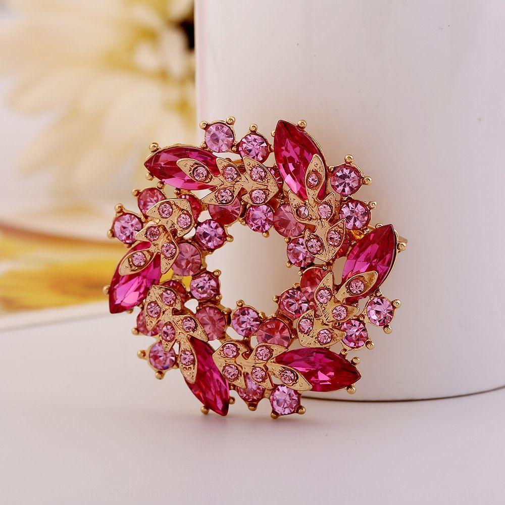 KOnif Nueva ropa de moda de Nueva cristal de diamante de cristal de diamante ropa de la manera broche broche broche