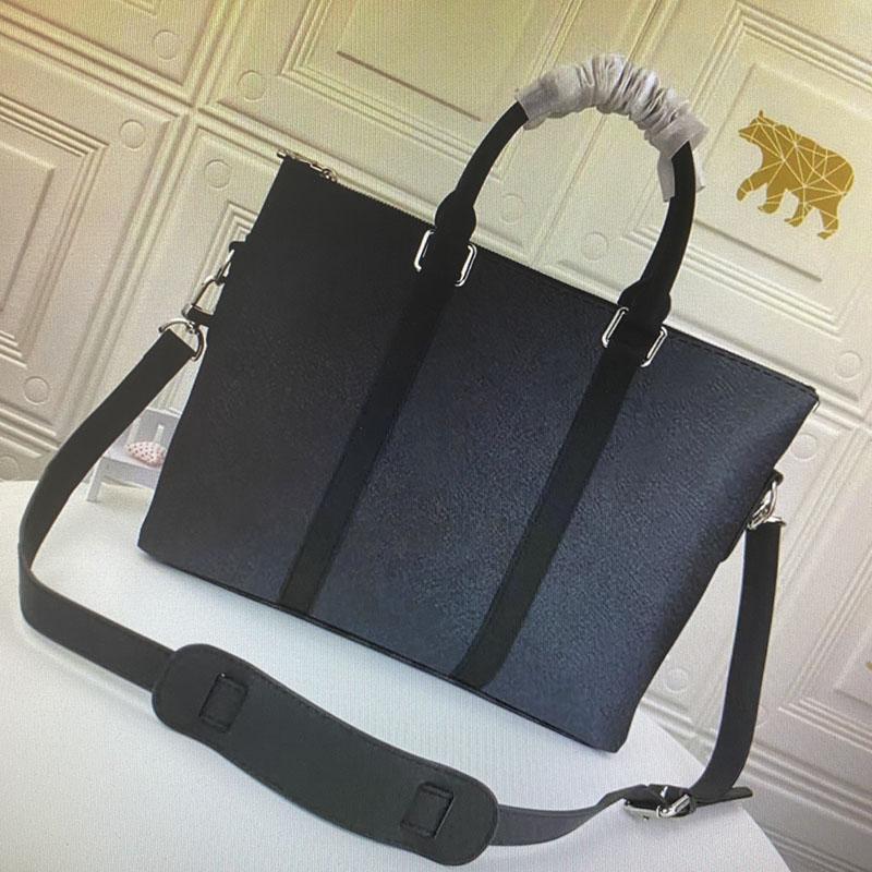 Outdoor N40024 Real Leathe Backcases Moda Business Dock Document Bag Top Handbag Messenger Bag Hombres Calidad M40000 Viaje SRNAI