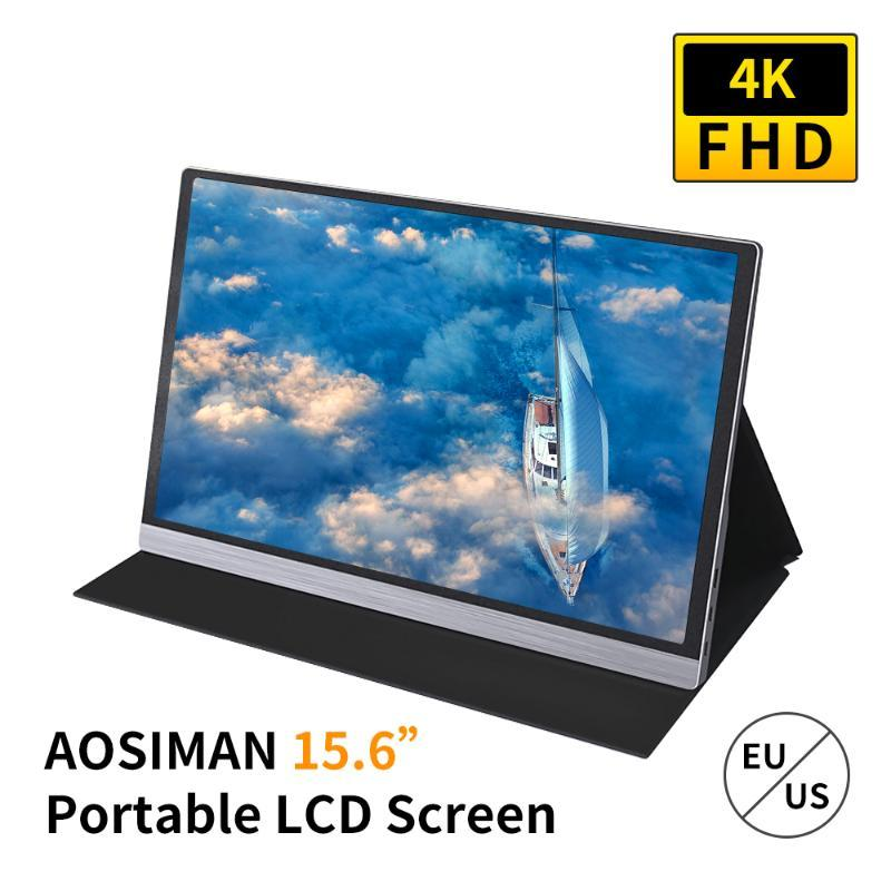Portable 15.6inch 4K LCD Screen 47% NSTC 16.7 Million Colors Gaming Monitor Super-thin Portable Display IPS Panel Fast Response
