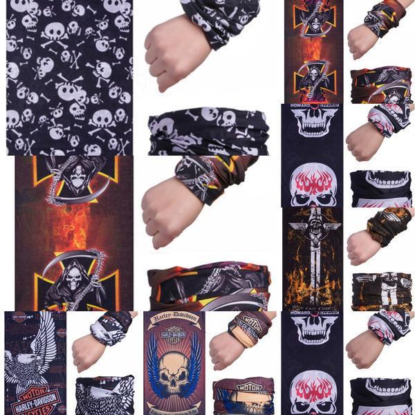 Silk Radsports Magie Bandana Schädel Ice Schal Maske Sommer Sonnenschutz Multifunktionales atmungsaktiv Outdoor-Gesichtsmasken in Stock # 350 # 993