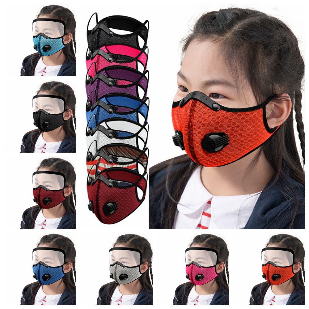 Máscaras FFA4388 infantil Ciclismo MASCARILLA Activado mascarillas anti-niebla a prueba de viento a prueba de polvo respirable niños protector solar al aire libre Deportes de la cara