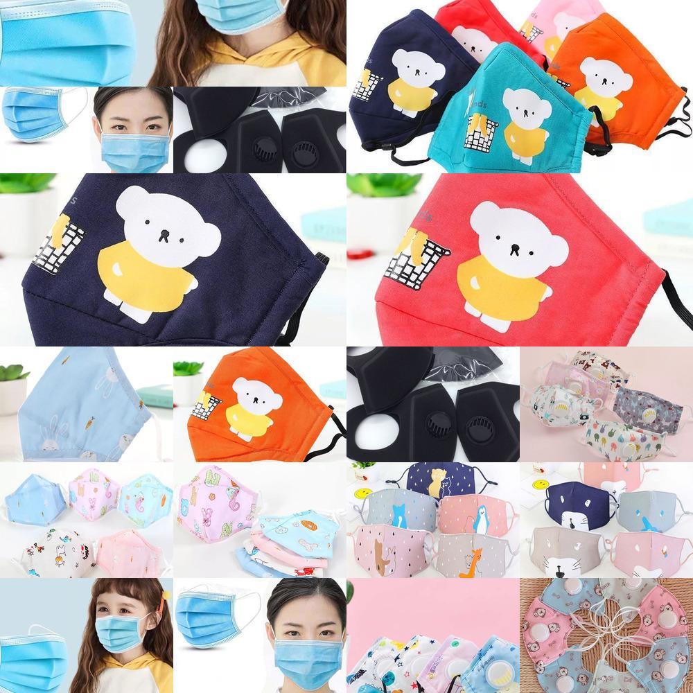 Reines Filter Gesicht Baumwolle Entlüfter Maske Ventil Waschbar Wiederverwendbare Erwachsene Kinder Staubdichtes Smo O9so