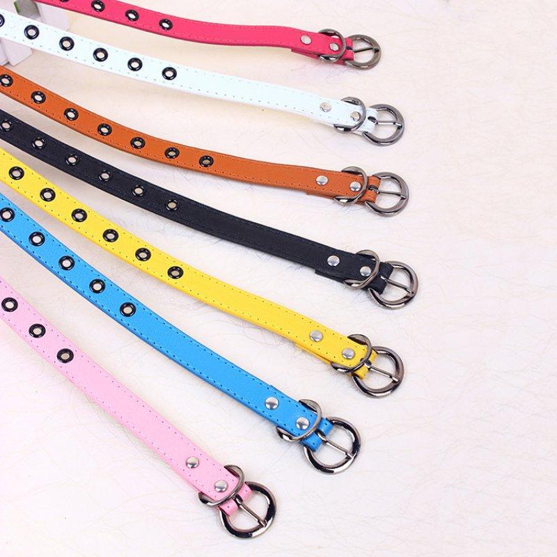 Crianças Marca Belt crianças Cós clássicos Rapazes Raparigas Cor Lazer Strap cintura Crianças PU Cintos de couro 6 cores