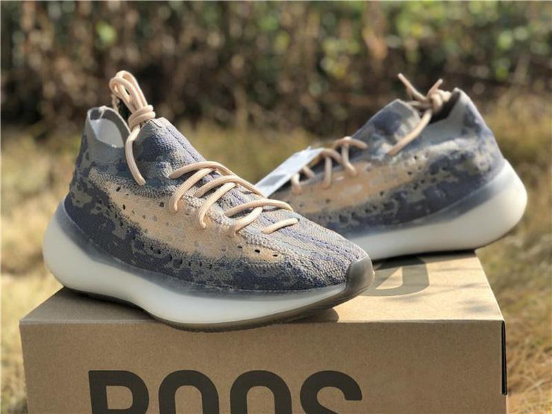 Yayın Kanye West 888Boost 380 Mist yabancı Tans 3M Yansıtıcı Dalga Runner Erkekler Kadınlar Spor Sneakers FX9764 ile Kutu Koşu Ayakkabıları