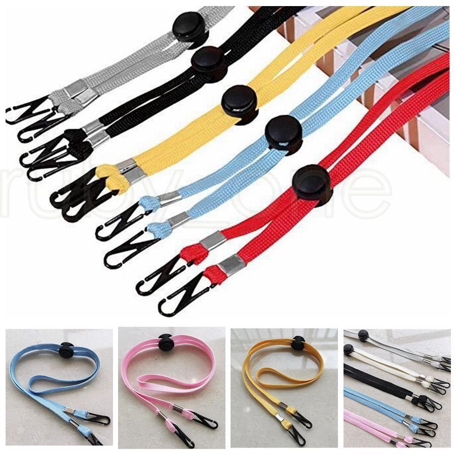 Masque réglable Extension Longe Handy Pratique coupe-vent Corde de repos Porte-oreille Accrochez sur le cou chaîne Hat Longe Party Favor RRA3582