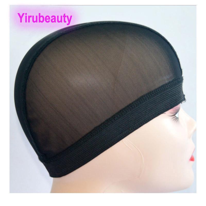 Peruk kap elastik saç net saç özel peruk aracı şapkalar iki stilleri siyah renk 10 adet / grup kapaklar