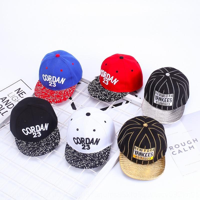 p3dQu 2019 hip hop beyzbol yeni çocuk şapkası bebek kap yaz Kore tarzı yeni işlemeli mektup bebek şapka açık güneş şapkası