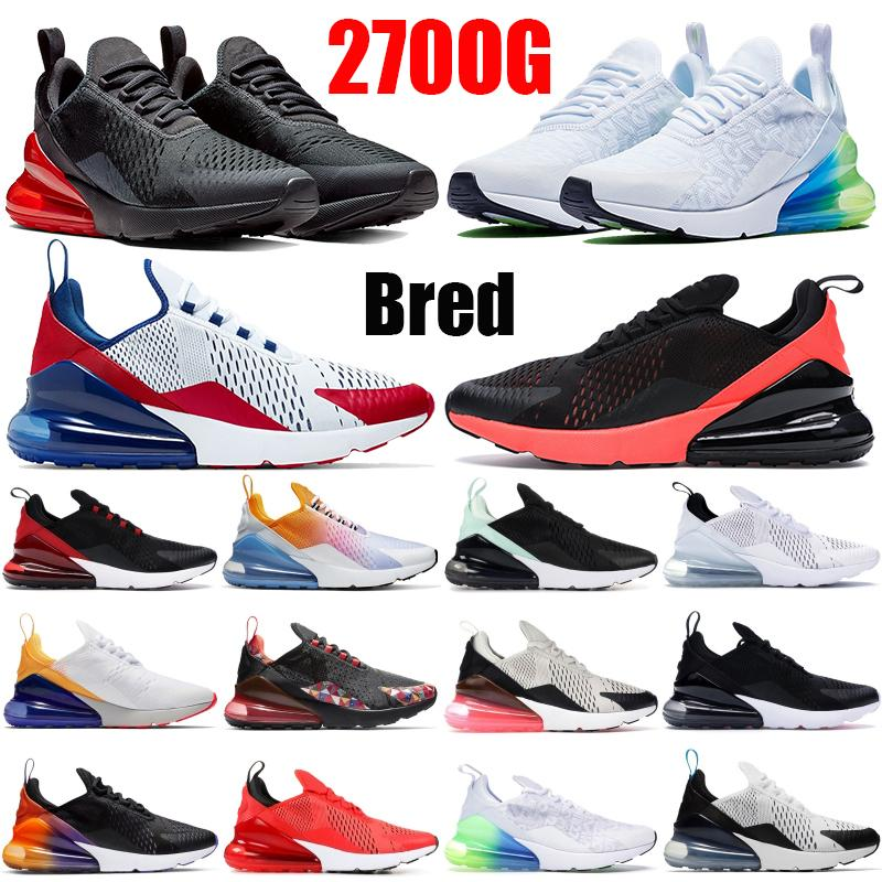 2021 Triple Black White Red 270OG Running Shoes Bred Throwback Future Men Running Shoes USA Splashing ink Dusty Cactus Men Womens Sneakers