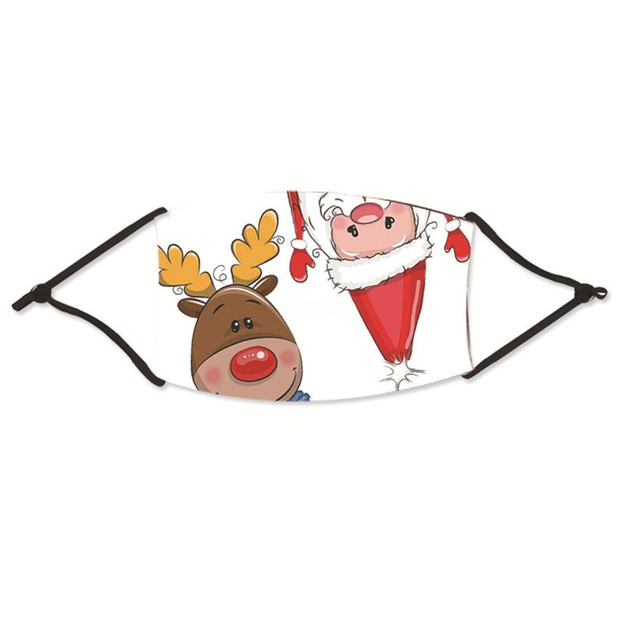 Anti 13styles Face Boca de Natal com Respiração Impressão Filtro HBXDB Máscara De Poeira Válvula Floral Natal Algodão Bolso Camo Haze Masks Arxkf