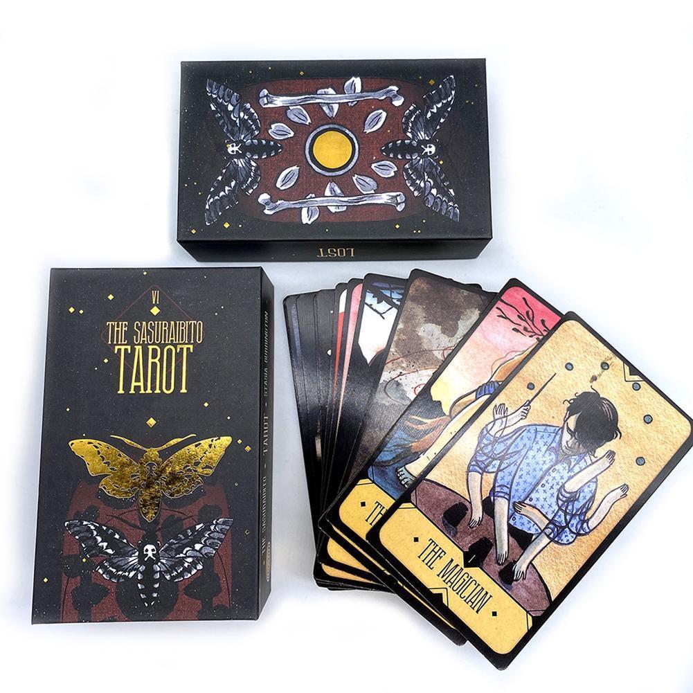 Inglês 78pcs Tabela Tarot Oráculo Adivinhação Conselho A Versão Sasuraibito plataforma Jogo Jogos Tarot Tarot Destino Cartões Cartão jGPms surpreendente homebag