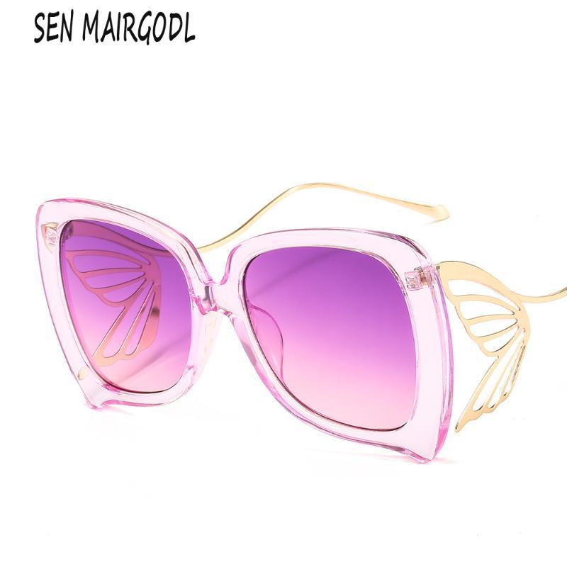 Shades Butterfly Lunettes Sunglasses Femmes Métal Ouclos Lunettes 2020 Personnalité Élégant Vintage Sun UV400 Mode Niksv Niksv