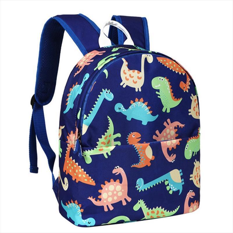 1 PC Dinosaur Impresso Backpack Kindergarten Children Bolsa Escola impressão dos desenhos animados primária Mochilas livro Capacidade Bolsa Satchel