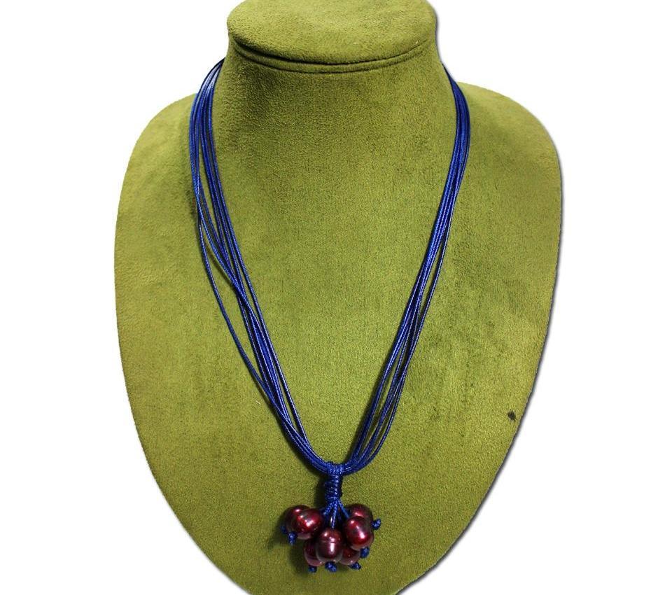 2018 rétro en Europe et aux États-Unis ligne de cire de bijoux populaires collier de perles rouge profond Mme Collier Pitty tassel55