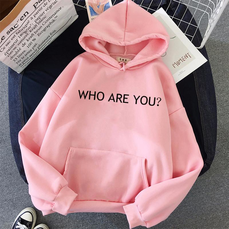 New Hoodies Women Casual Harajuku Printed WHO ARE YOU Tops Female für Frauen Sweatshirt Drop Shipping