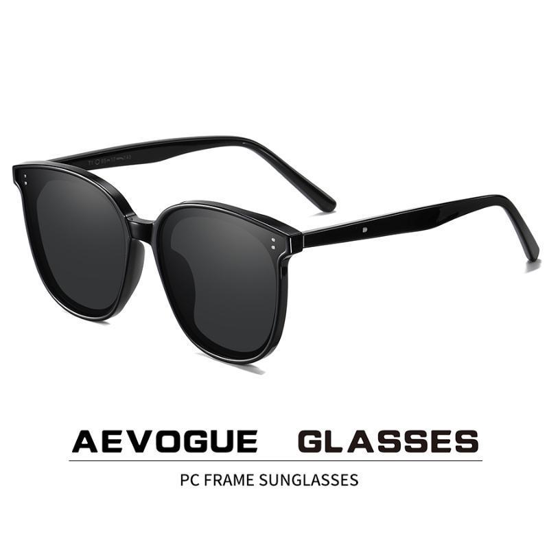 AEVOGUE Novas mulheres retro óculos polarizados Transparente Rodada Moda óculos de sol Vintage Oculos Unissex UV400 AE0848