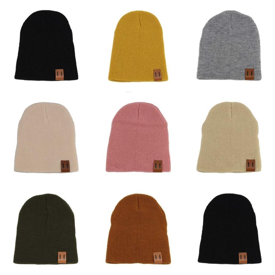Winter Beanies Solid Color Hat Unisex Plain Теплые мягкие черепа Вязание Cap Шляпы Touca Gorro Caps Мужчины Женщины T200211 # 805