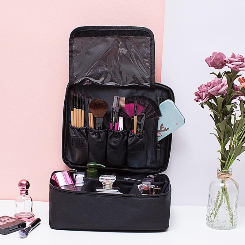 Stockage Cosmétiques Capacité Capacity Sac Organisateur Zipper Voyage Tote Oxford Maquillage Grand chiffon étanche Portable LNHXV