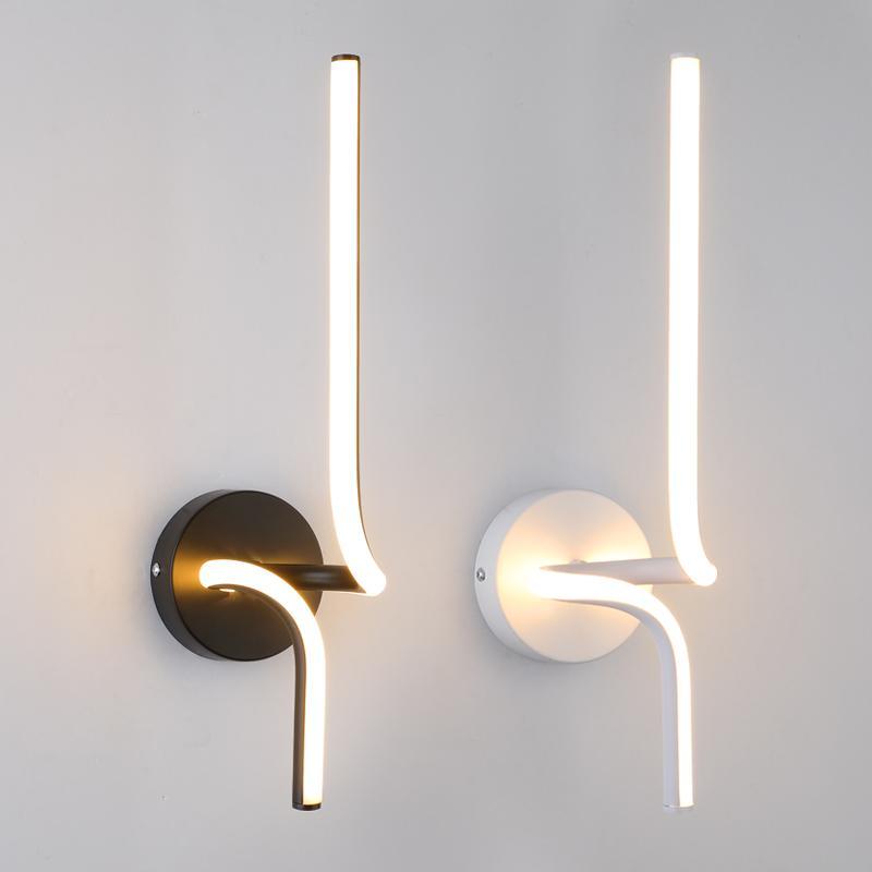 Moderne 10W lampada LED mur aluminium lampes de chevet salle à manger nordique chambre minimaliste salon appliques murales Décoration