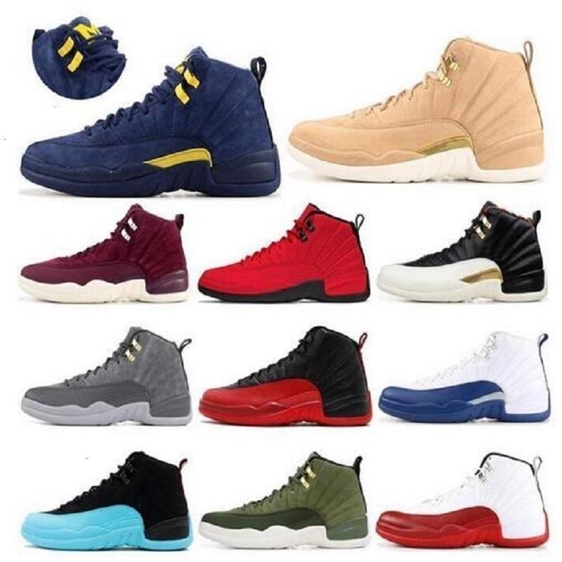 Zapatos para hombre de las mujeres de baloncesto de Jumpman gris oscuro 12s 11s Concord Taxi revertir lo que el 4s metálica de plata de los hombres Trainer moda zapatillas deportivas