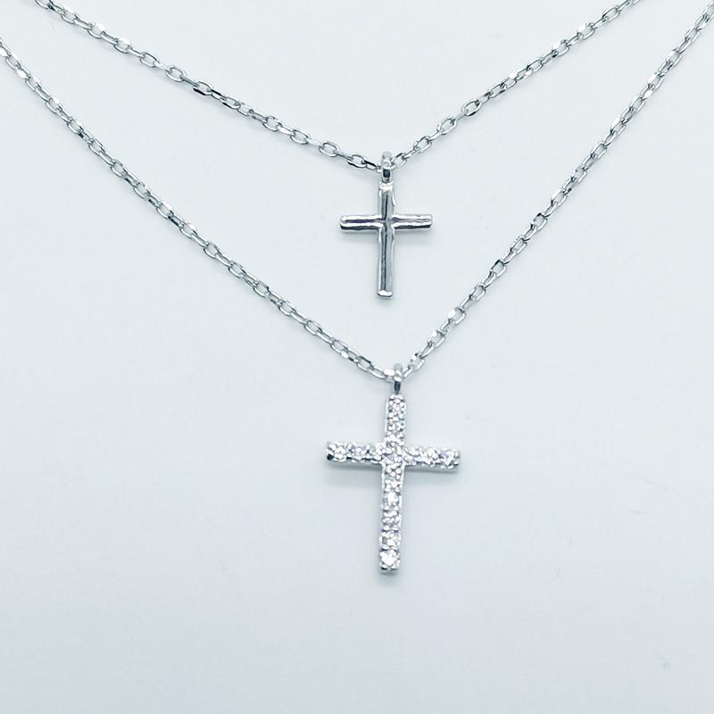 Titanyum Çelik Çapraz Kolye Moda Ücretsiz Yazı Severler Kolye Kız İsa Mesih İnci Hip Hop Aksesuarları