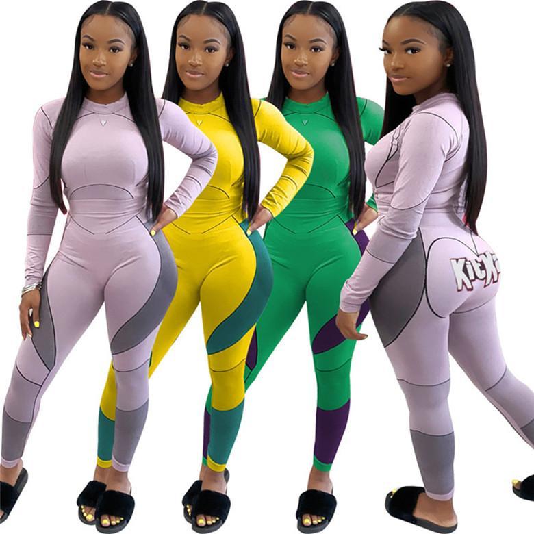 İki parçalı set eşofman gömlek pantolon kıyafetler uzun kollu spor gömlek pantolon eşofman kazak tayt spor sıcak klw4913 womens