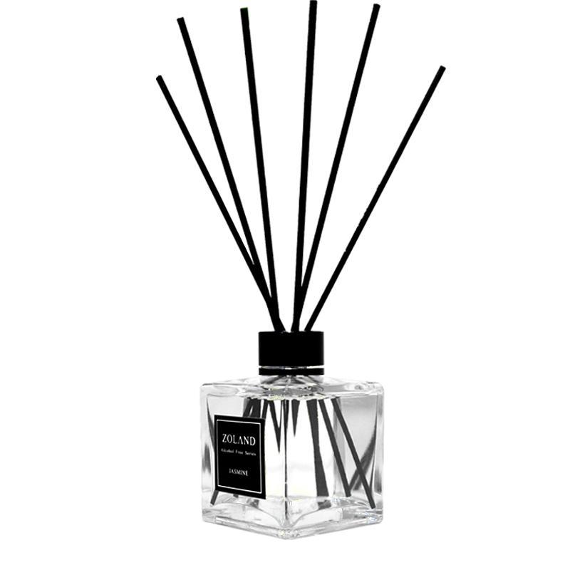 Deodorante per il profumo Deodorante per oli essenziali Diffusore Fragrance Fragrance Bottiglia di vetro No Fire Parfum con bastoncini in rattan nera Home DEC Soggiorno ufficio