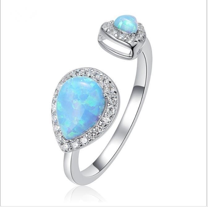 venta caliente, mujeres anillo de diamantes de la moda abierto
