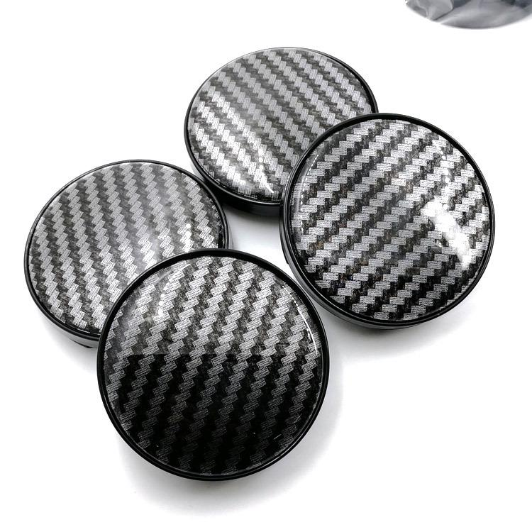 Car Styling 20pcs Modified 60MM non-standard carbon fiber black hub cover factory direct 58MM pin outer diameter wheel cover black