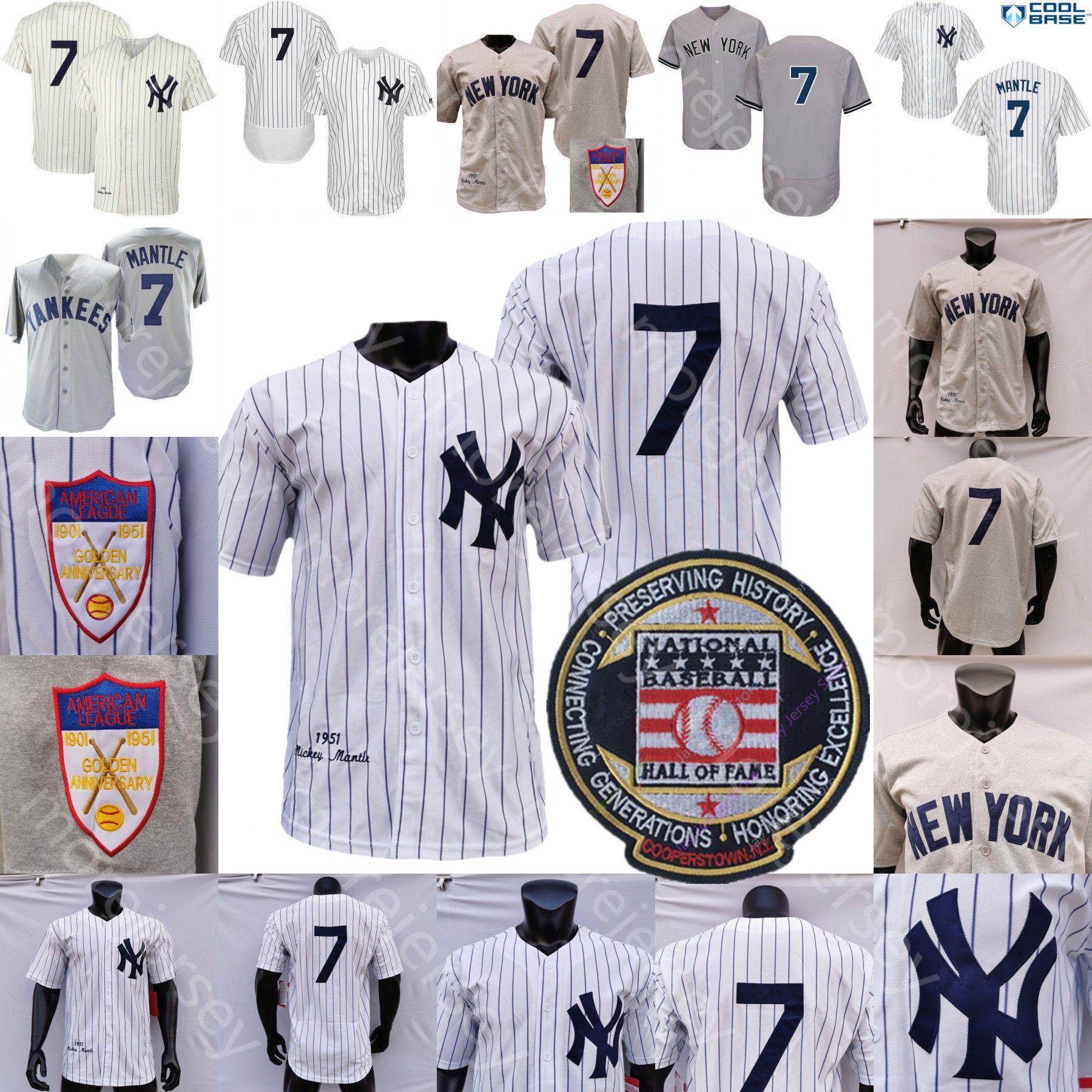Manto Jersey Coopers-città 1951 Baseball Hall of Fame Bianco Crema gessato Canapa-grigio In casa Fuori Tutto Sttiched Formato degli uomini M-3XL