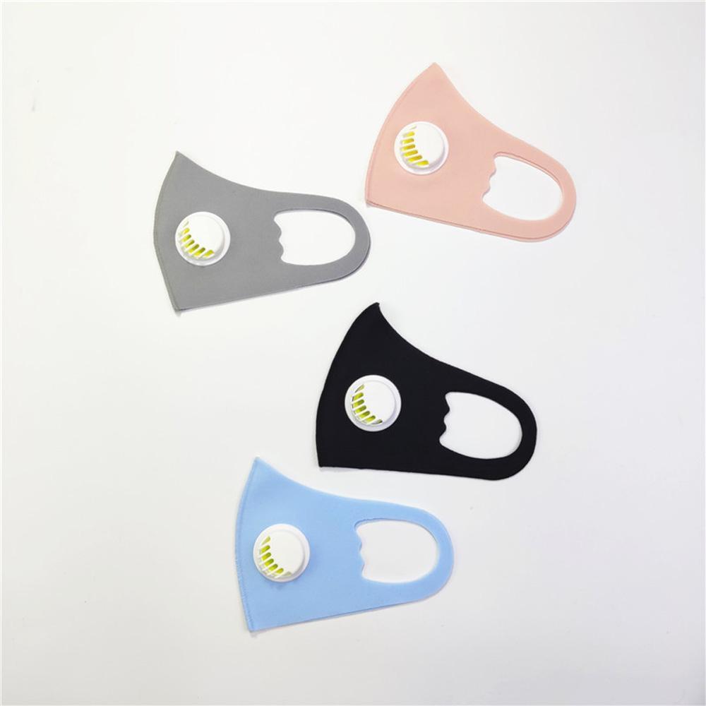 Анти Dust лица Рот Обложка РМ2,5 маска с клапаном Респиратор пылезащитный антибактериальное моющийся многоразовый Ice Шелковый хлопок Маски