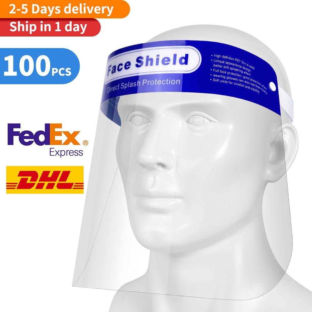 Seguridad de escudo facial transparente para toda la cara cubierta protectora de la película Herramienta anti-vaho prima PET material protector de la cara