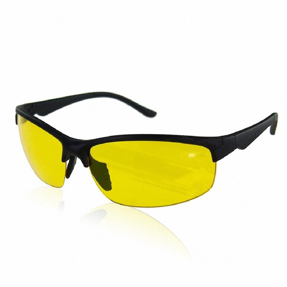 Wholesale Hot Sale Sunglasses Night Vision Glasses Driving Yellow Lens Classic Anti Glare Glass Hd High Definition ucWg#