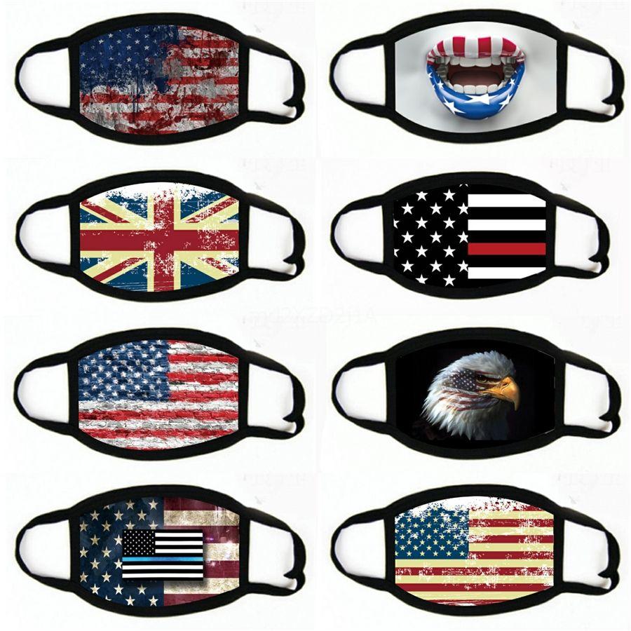 2020 Американская Избирательные товары Маска для лица Мода Флаг США Печать WashableMasks # 765