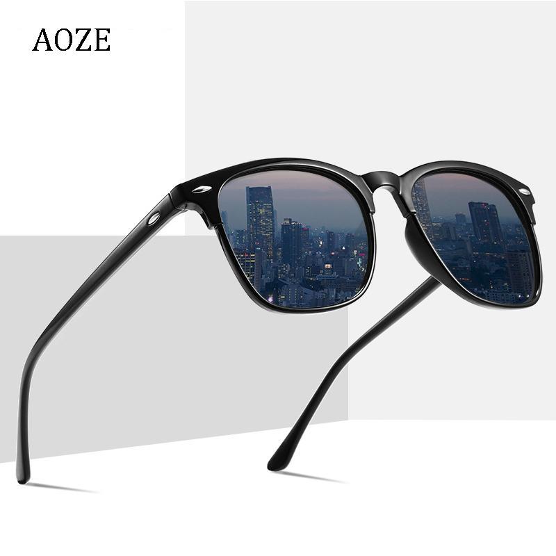 2020 neue Art und Weise Mann polarisierte Leopard quadrat Sonnenbrille Unisex Markendesigner UV400