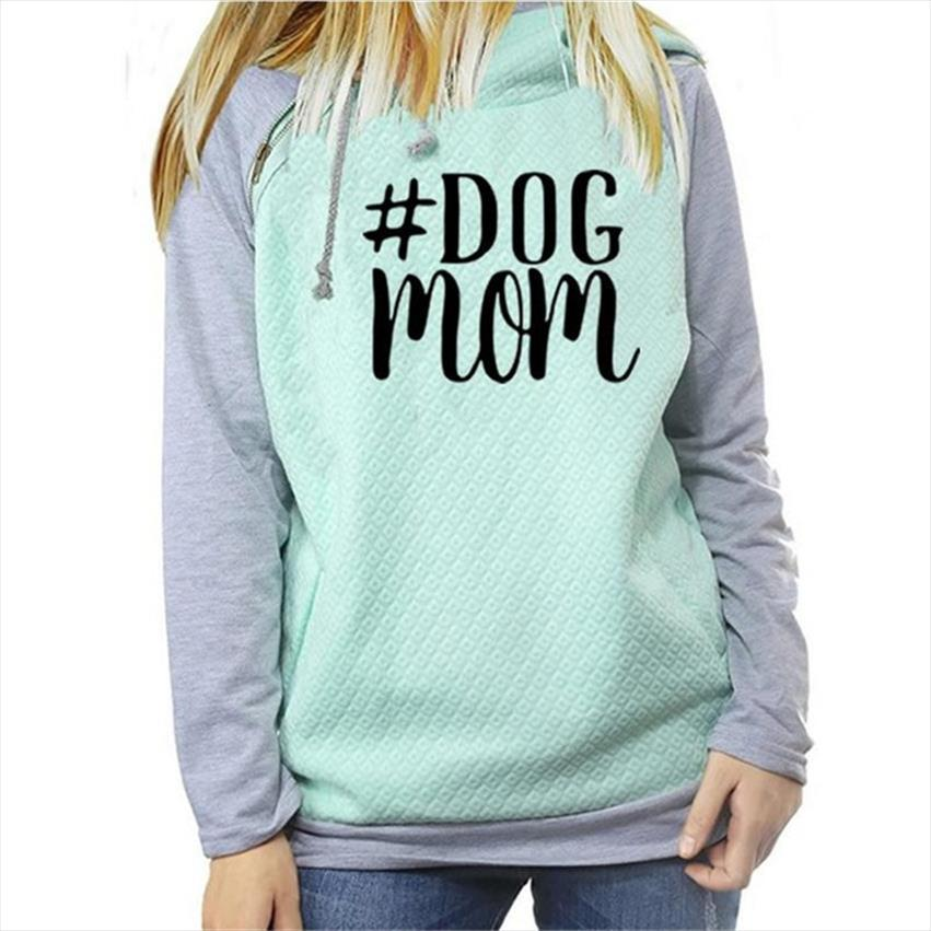 Dog Mom Hoodies Women Kawaii Sweatshirt Femmes Printing Pattern Female Sweatshirts Spring Autumn Fashion Hooded Casual Hoody