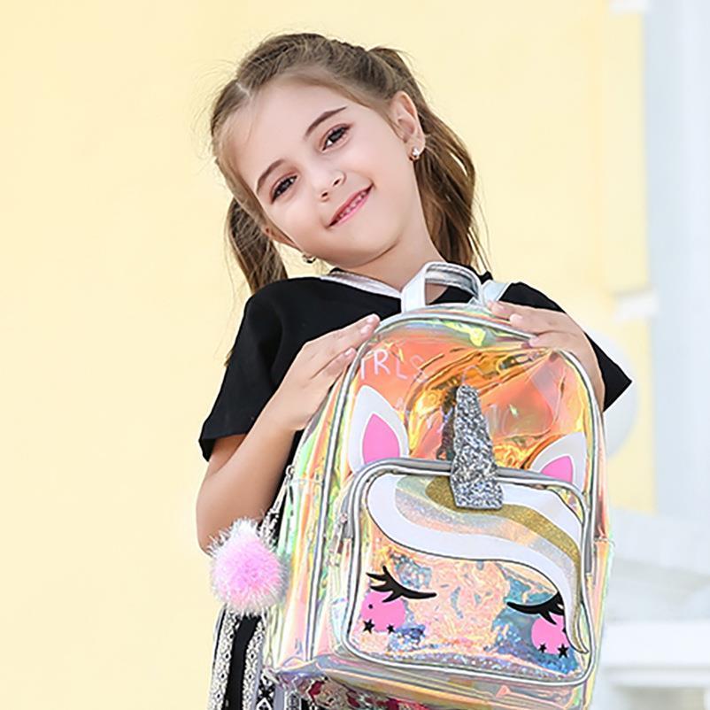 Unicorn School für Kinder Niedliche Gilr Boy Rucksäcke Bagpack Clear Für Taschen Für Teenager Rucksack Mädchen Kinder Transparente Mädchen Tasche IDeri