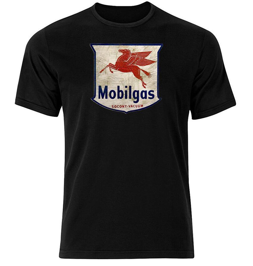 Mobilgas - Graphic Camiseta de algodón Personalidad corto de manga larga Camiseta de encargo
