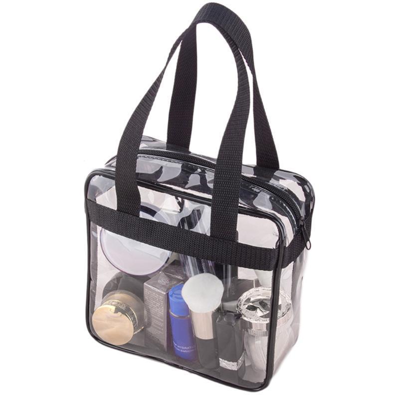 Make Up Organizer Bag Large Capacity PVC Transparent Cosmetic Bags Travel Tote Clear Organizer Travel Makeup Bag waterproof