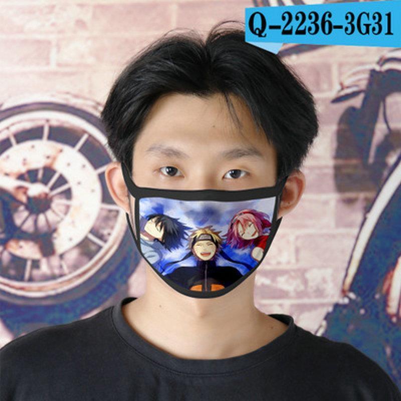Masque enfants Naruto Cubrebocas visage pour le masque Ao Réutilisable 02 Ao Tapabocas Cartoon visage Naruto Designer FNaCV lg2010