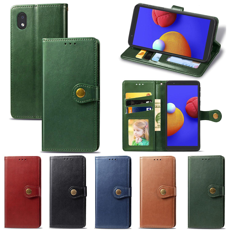 Pour Samsung Galaxy A1 de base Cas Simple Business Style PU Housse en cuir de surface lisse avec fente pour carte Bouton de retournement (Modèle: A1CORE)
