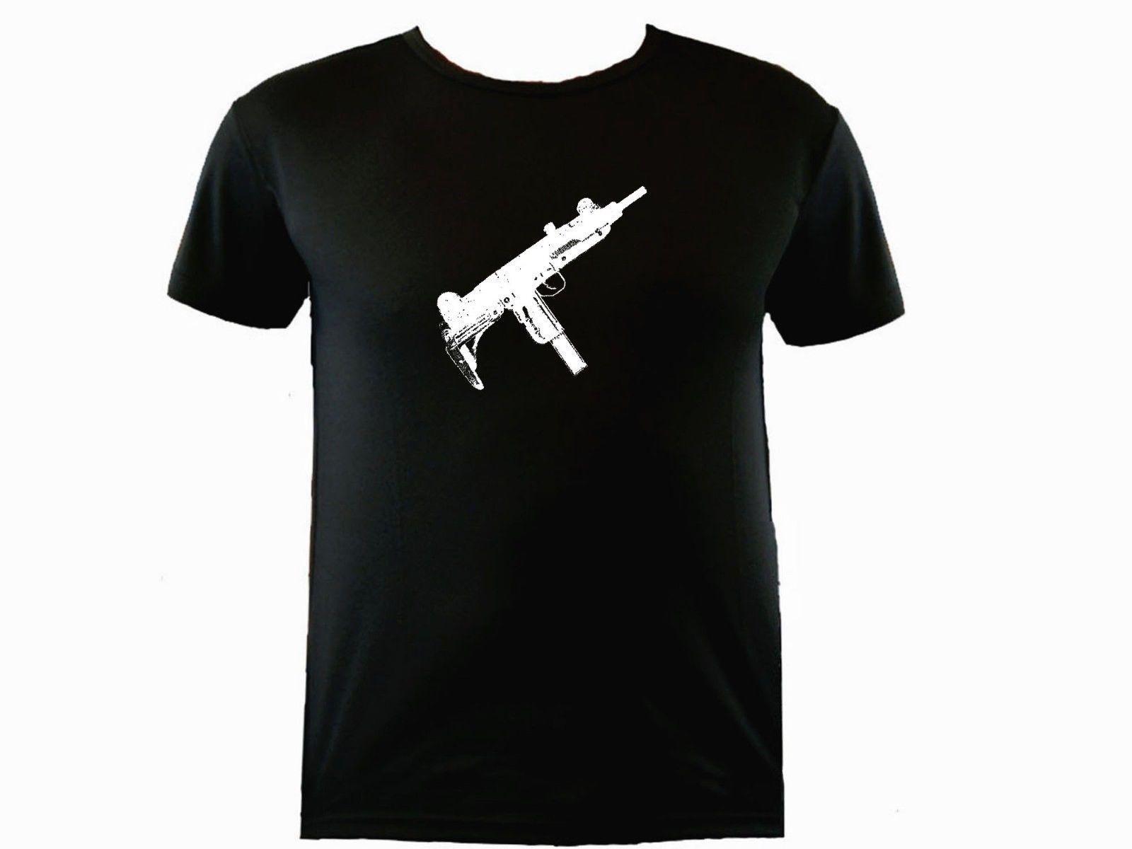 UZI Israel arma rifle suar prova treino de poliéster t-shirtFunny manga curta T-shirts Verão Hip Hop